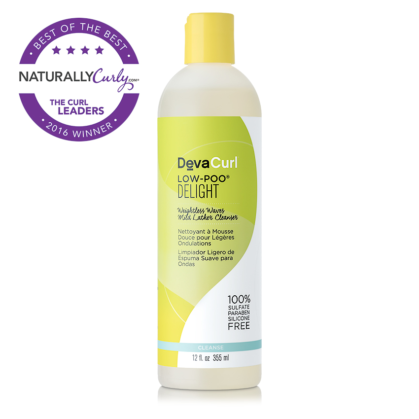 Shampoo: DevaCurl Low-Poo Delight