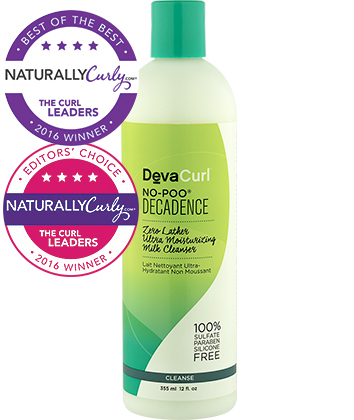 Cleansing Conditioner: DevaCurl No-Poo Decadence Zero Lather Ultra Moisturizing Milk Cleanser