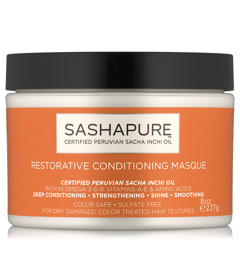 Hair Mask: SASHAPURE Restorative Conditioning Masque